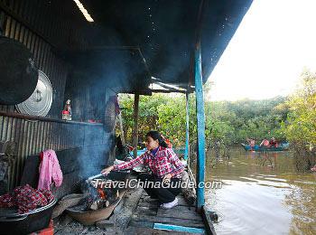 Floating Village on Tonle Sap Lake
