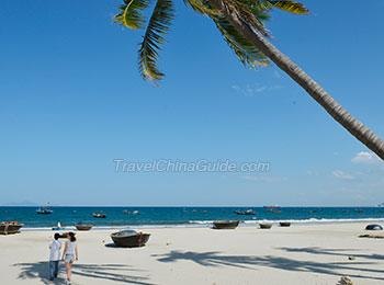 A beach in Danang City