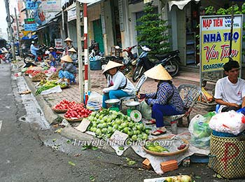 A local vegetable market