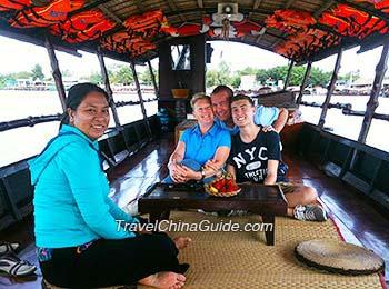 Cruise tour on Mekong River