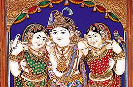 Folk art painting in India