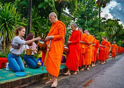 Alms-giving ceremony