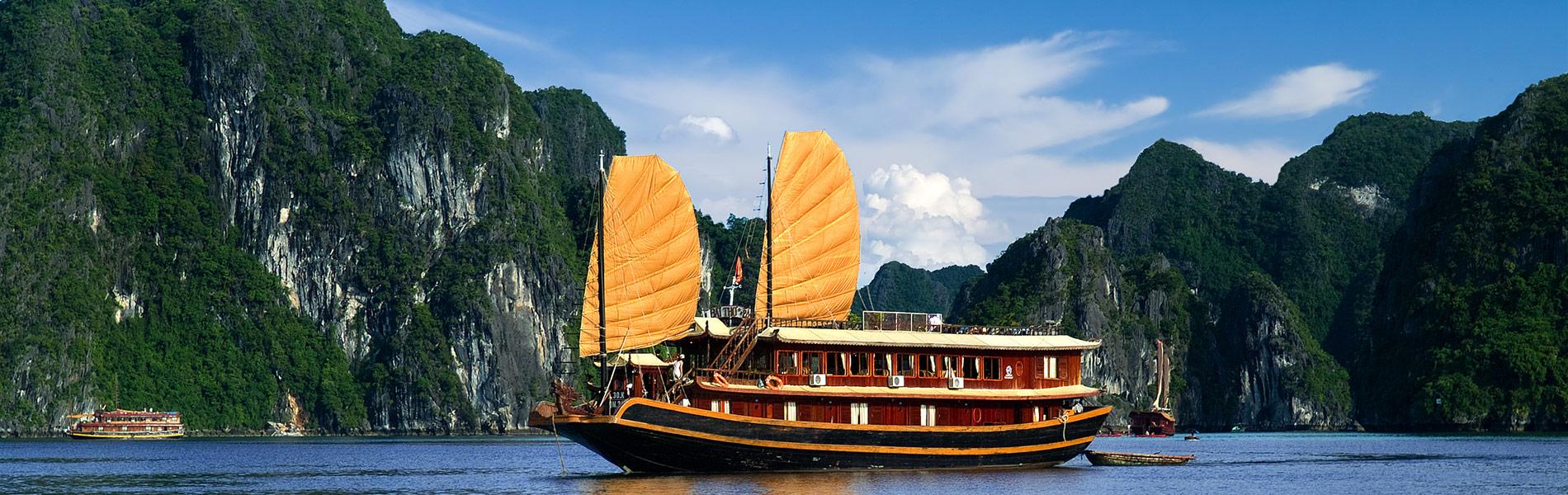 Sailboat on Halong Bay