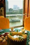 feasting at Datong overlooking the Pearl river