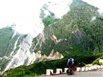 Cycling out of the Tiger Leaping Gorge