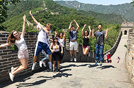 Having fun at the Great Wall
