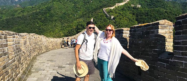 Have fun on Mutianyu Great Wall