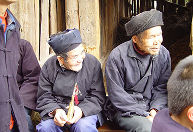 Chinese people in the village