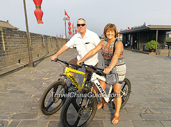 Cycling on the Xi'an City Wall