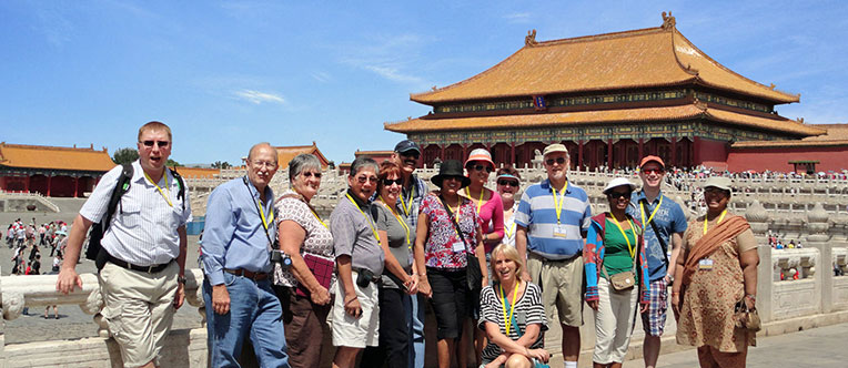 Our guests visiting the majestic Forbidden City