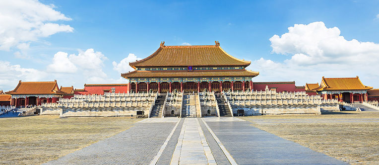 The majestic imperial palaces in the Forbidden City