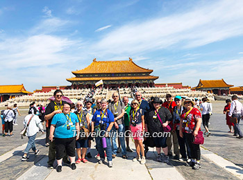 Our clients visiting the Forbidden City