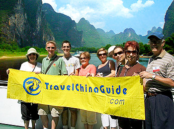 Our group on Li River cruise