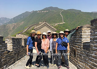 Our group at Mutianyu Great Wall