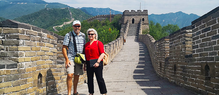 Our guests visiting the Mutianyu Great Wall