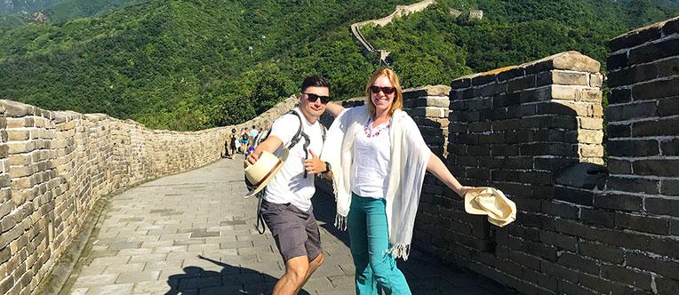 Visit the world-famous Great Wall of China at Mutianyu