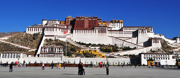 Visit Potala Palace, the largest and most complete palace complex in Tibet