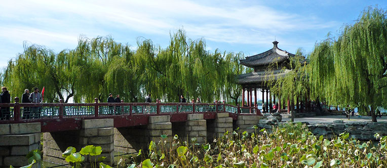 Enjoy the peaceful view of the Summer Palace