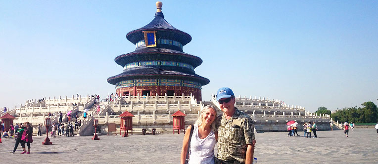 Our guests at the Temple of Heaven