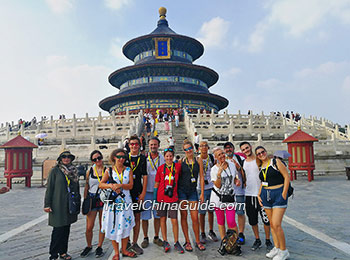 Our group at the Temple of Heaven