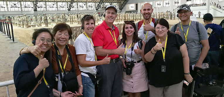 Our group at the Terracotta Army