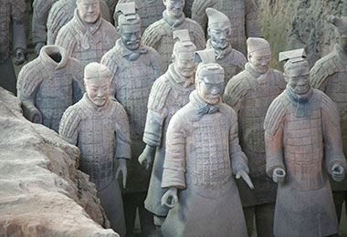 The life-size Terracotta Warriors