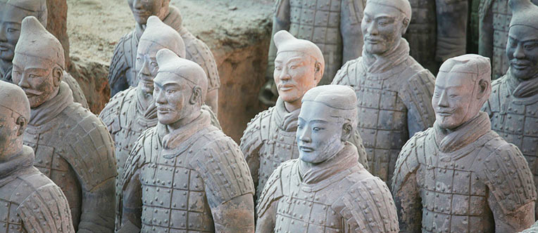 The life-size Terracotta Army built more than 2,200 years ago