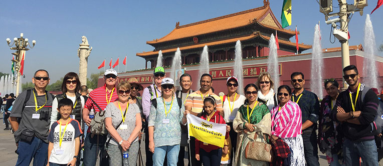 Our group at Tiananmen Square