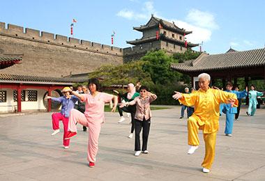 Practice Tai Chi at the City Wall Park
