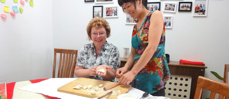 Learn to make dumplings at a local home