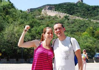 Couples visiting Badaling Great Wall