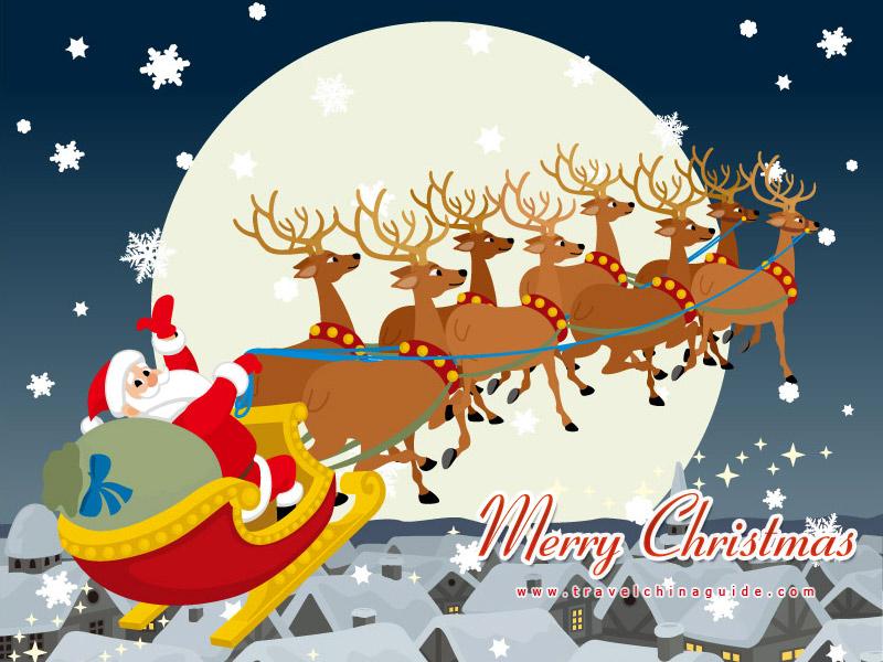 Santa Claus & Christmas Sleigh