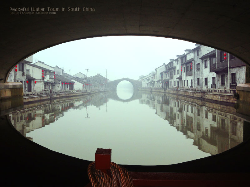 Peaceful Water Town in South China