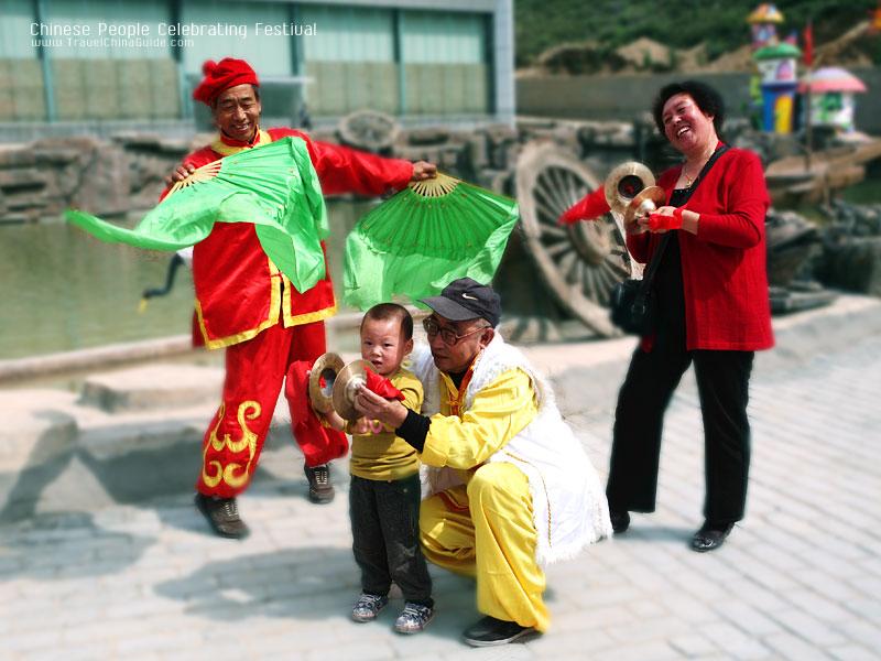 Chinese People Celebrating Festival