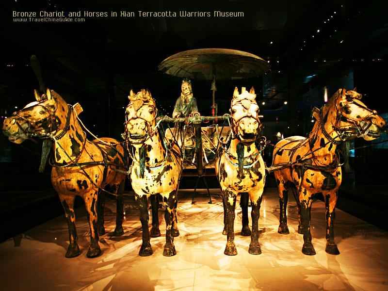 Bronze Chariot and Horses in Xian Terracotta Warriors Museum