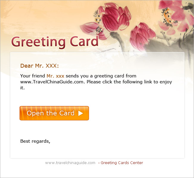 Free chinese greeting cards new year christmas valentine birthday please view the card sample m4hsunfo