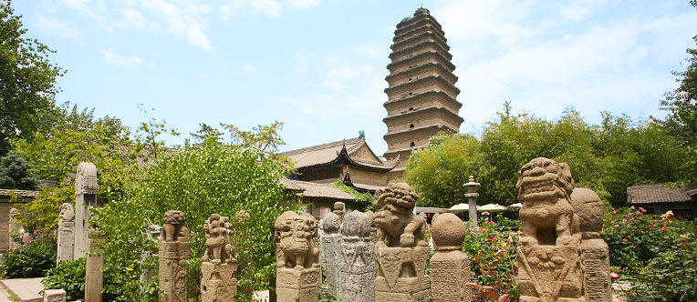 Soak up the tranquil atmosphere in the Small Wild Goose Pagoda
