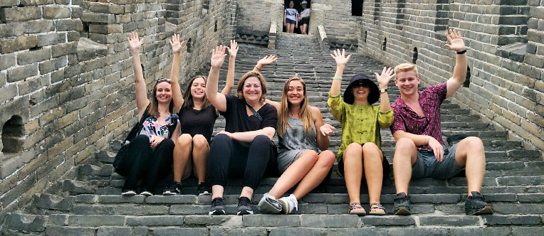 Our happy clients on the Great Wall