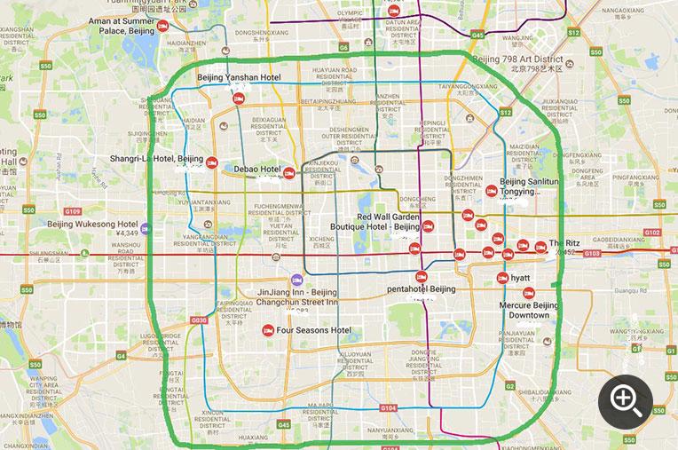map of Beijing Downtown
