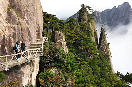 Hiking at Huangshan