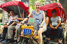 Tricycle tour in Suzhou old town