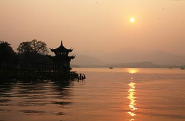 West Lake at sunset