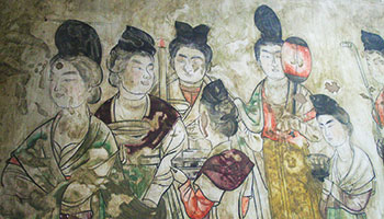 Colorful Mural in Qianling Mausoleum