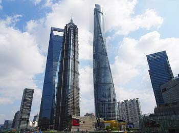 Iconic buildings in Pudong New Area