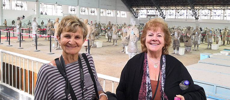 Our clients at the Terracotta Warriors Museum