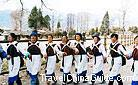 A dancing and singing performance of Naxi people