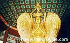 A gilded Bodhisattva with one thousand hands and eyes in Bajiao Hall was made of a maidenhair tree, Kaifeng.