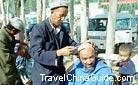 Traditional street haircut