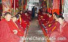 Smiling lamas, Ganden Monastery, Lhasa, Tibet