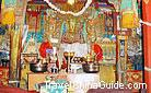 The Buddha statue in the Shrine is worshiped by local Tibetan people, Yumbu Lakang, Tibet